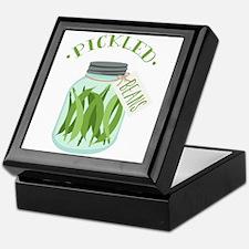 Pickled Green Beans Jar Keepsake Box