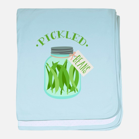 Pickled Green Beans Jar baby blanket