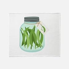 Pickled Green Beans Throw Blanket