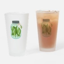 Pickled Green Beans Drinking Glass