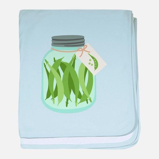 Pickled Green Beans baby blanket