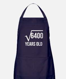 80 Years Old Square Root Apron (dark)