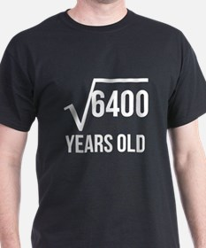 80 Years Old Square Root T-Shirt