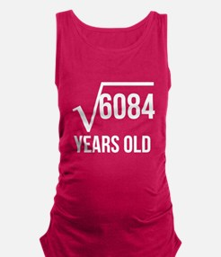 78 Years Old Square Root Maternity Tank Top