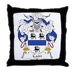 Cain Family Crest Throw Pillow