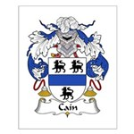 Cain Family Crest Small Poster
