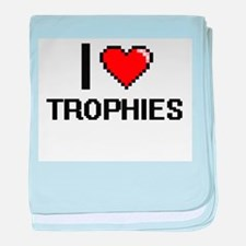 I love Trophies digital design baby blanket