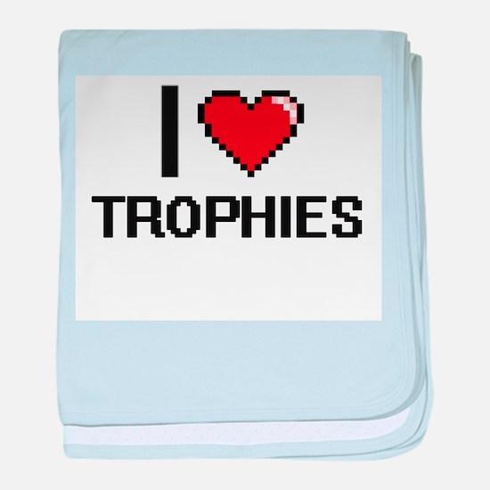I love Trophies digital design baby blanket