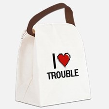 I love Trouble digital design Canvas Lunch Bag