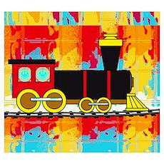 Fun Locomotive Choo Choo Train Poster