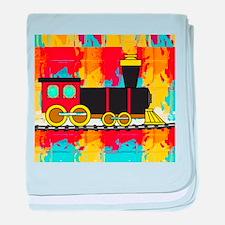Fun Locomotive Choo Choo Train baby blanket