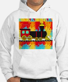 Fun Locomotive Choo Choo Train Hoodie