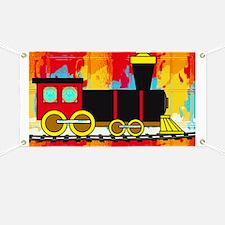 Fun Locomotive Choo Choo Train Banner