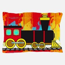 Fun Locomotive Choo Choo Train Pillow Case
