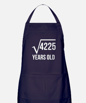 65 Years Old Square Root Apron (dark)