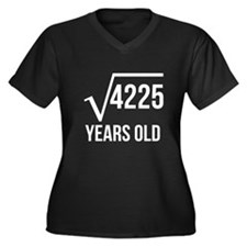 65 Years Old Square Root Plus Size T-Shirt