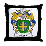 Cadalso Family Crest Throw Pillow