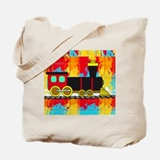 Fun Locomotive Choo Choo Train Tote Bag