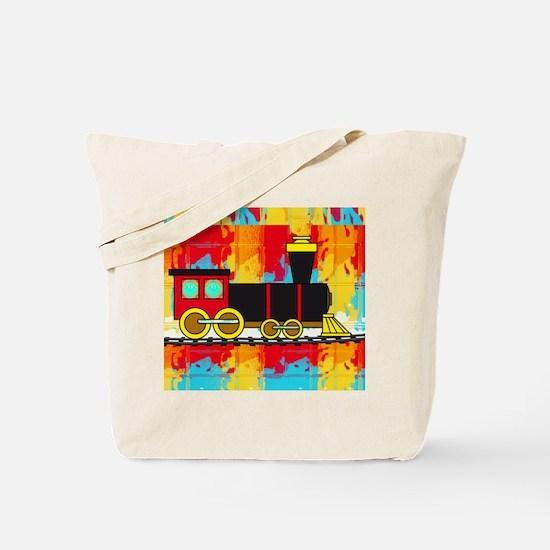 Fun Locomotive Choo Choo Train Tote Bag