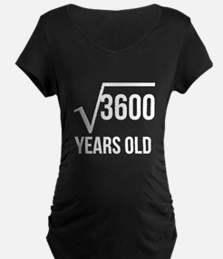 60 Years Old Square Root Maternity T-Shirt