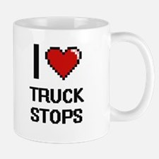 I love Truck Stops digital design Mugs