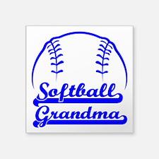 "SOFTBALL GRANDMA Square Sticker 3"" x 3"""