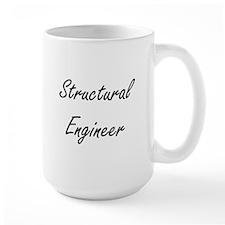 Structural Engineer Artistic Job Design Mugs