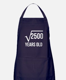 50 Years Old Square Root Apron (dark)