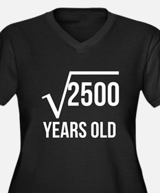 50 Years Old Square Root Plus Size T-Shirt