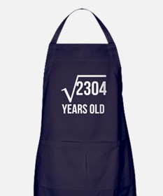48 Years Old Square Root Apron (dark)