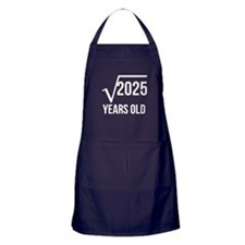 45 Years Old Square Root Apron (dark)