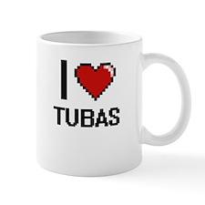 I love Tubas digital design Mugs