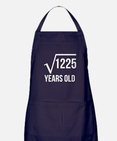 35 Years Old Square Root Apron (dark)