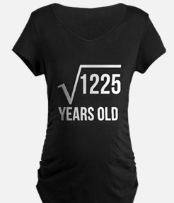 35 Years Old Square Root Maternity T-Shirt
