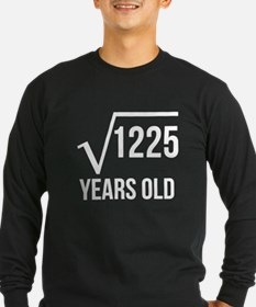 35 Years Old Square Root Long Sleeve T-Shirt