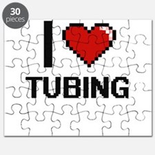 I love Tubing digital design Puzzle