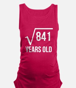 29 Years Old Square Root Maternity Tank Top