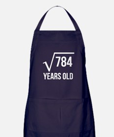 28 Years Old Square Root Apron (dark)