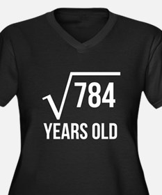 28 Years Old Square Root Plus Size T-Shirt