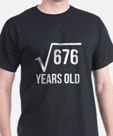 26 Years Old Square Root T-Shirt