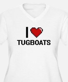 I love Tugboats digital design Plus Size T-Shirt