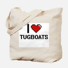 I love Tugboats digital design Tote Bag