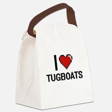 I love Tugboats digital design Canvas Lunch Bag