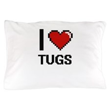 I love Tugs digital design Pillow Case