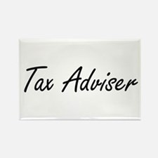 Tax Adviser Artistic Job Design Magnets