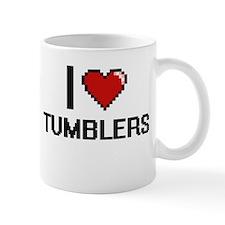 I love Tumblers digital design Mugs
