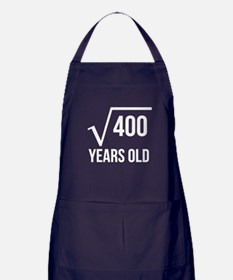 20 Years Old Square Root Apron (dark)