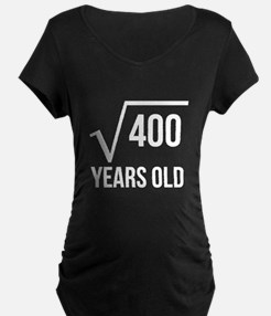 20 Years Old Square Root Maternity T-Shirt
