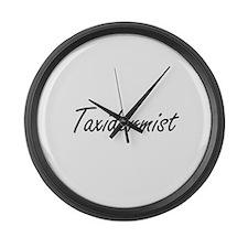 Taxidermist Artistic Job Design Large Wall Clock