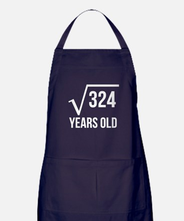 18 Years Old Square Root Apron (dark)